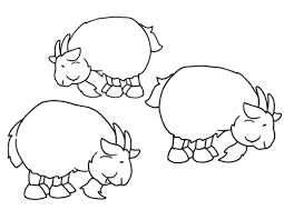 Colouring Pages 3 Billy Goats Gruff Three