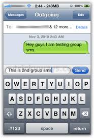 Send Group SMS on iPhone
