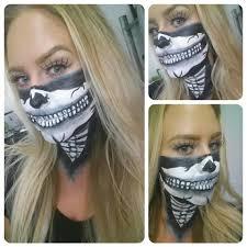 Halloween Half Mask Ideas by Skull Bandana Makeup By Me Beauty Pinterest Bandanas And