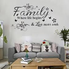 wandtattoo wandsticker aufkleber wohnzimmer küche family sprüche wand dekoration