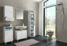 details zu badmöbel set frio grau holz günstig 5 teilig badezimmer waschtischunterschrank