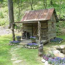 Tin Shed Highland Il by Tiny Cabin Garden Shed Outbuilding Stone Path Upcycled