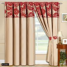 Amazon Red Kitchen Curtains by Amazon Com 90x90 Half Flock Pencil Pleat Luxurious Pair Of