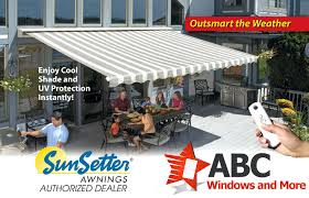 Sunsetter Motorized Retractable Awnings Windows And More By ... Shade One Awnings Sunsetter Retractable Awning Dealer Motorised Sunsetter Motorized Retractable Awnings Chrissmith Sunsetter Motorized Replacement Fabric All Is Your Local Patio Township St A Soffit Mount Beachwood Nj Job Youtube Xl Costco And Features Manual How Much Is