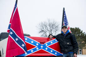 Confederate Flag-bearing Trucks Park Outside Michigan School | The ... Cheap Truck Safety Flags Find Deals On Line At Red Pickup Merry Christmas Farm House Flag I Americas Car Decals Decorated Nc State Truck With Flags And Maximum Promotions Inc Flagpoles Distressed American Tailgate Decal Toyota Tundra Gmc Chevy Bed Mount F150online Forums Rrshuttleus Wildland Brush In Front Of American Bfx Fire Apparatus Shots Fired At Confederate Rally Attended By Thousands Cbs Tampa