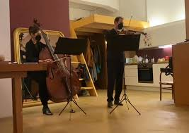 living room concert duo sointu