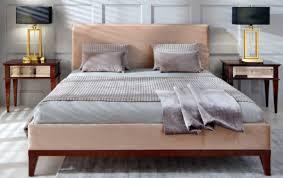 casa padrino luxus deco doppelbett beige braun 168 x 215 x h 101 cm massivholz bett deco schlafzimmer möbel barockgroßhandel de