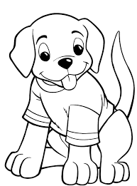 Image Of Puppy Coloring Pages To Print