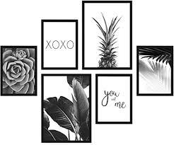 postoro stilvolles wohnzimmer poster set 6 harmonisch aufeinander abgestimmte bilder ohne rahmen 2 x din a3 4 x din a4 pineapple