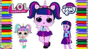By Fun Kids Show LOL Surprise Unicorn Doll Color Swap With My Little Pony Twilight Sparkle Transforms Coloring Pages