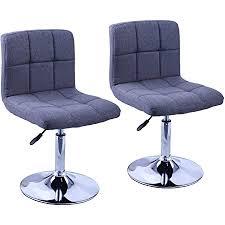 duhome 2er set moderner esszimmerstuhl küchenstuhl höhenverstellbar drehbar stuhl 451n farbe grau material stoff