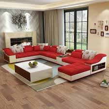 100 Designs For Sofas For The Living Room Luxury Modern U Shaped Leather Fabric Corner Sectional Sofa