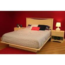 South Shore Step e Queen Size Platform Bed in Natural Maple