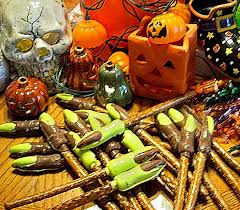 Halloween Pretzel Rods by A Fridge Full Of Food Halloween Candy Witch U0027s Fingers On