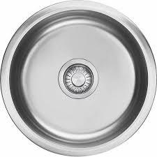 eurodomo round single bowl inset undermount sink sinks mitre 10