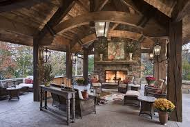 Download Outdoor Fireplace Covered Patio