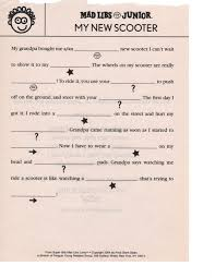 Halloween Mad Libs For 5th Graders by Jen U0027s Ink Pen Mad Libs Cheap Entertainment