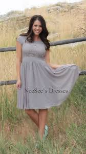 light gray isabel by mikarose modest church dresses trendy