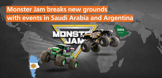 100 Monster Trucks Cleveland Jam Breaks Grounds In Saudi Arabia And Argentina Coliseum