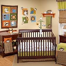 amazon com nojo crib bedding set zambia nojo jungle babies
