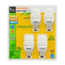 shop sylvania 4 pack 60 w equivalent soft white a19 cfl light