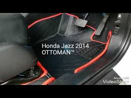 Black Auto Carpet by Honda Jazz 2014 With Black Ottoman Car Carpet Youtube