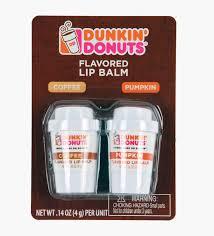 Dunkin Donuts Pumpkin Donut Calories by Amazon Com Dunkin Donuts Coffee And Pumpkin Flavored Lip Balm
