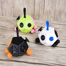 EDC 12 Side Fidget Cube Anxiety Stress Attention Relief Puzzle Gadgets 3 Color