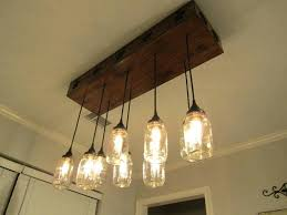 Mason Jar Kitchen Lights Large Size Of For Wood Chandelier Light Up