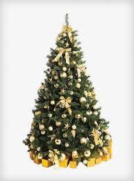 Traditional Gold Artificial Tree From Christmas Rentals Ltd Hire