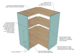 ana white wall corner pie cut kitchen cabinet diy projects