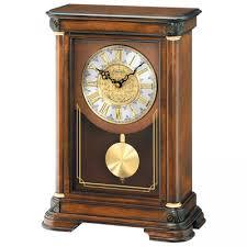 Bulova Table Clocks Wood by Clockway Anniversary Clocks Shop All