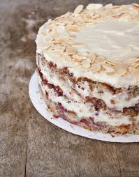 Raspberry Almond Cake With Cream Cheese Frosting