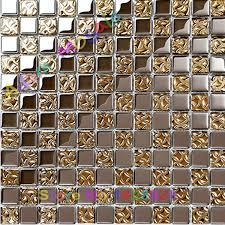 Mirror Tiles 12x12 Gold by Mirror Gold Glass Tiles Kitchen Backsplash Silver Mosaic Tile