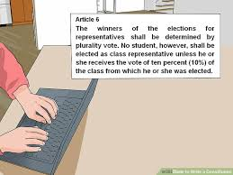How to Write a Constitution 12 Steps with wikiHow