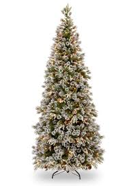Hayneedle Flocked Christmas Trees by Unique Ideas Pre Lit Christmas Trees Classic Flocked Slim Tree