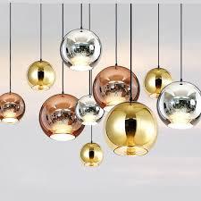 elegante dessign globus glas pendelleuchte silber gold kupfer farbe esszimmer wohnzimmer licht dekoration beleuchtung