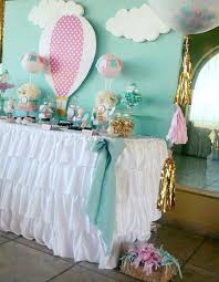 Pretty Hot Air Balloon Party Mint Green And Pink