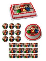 Alvin And The Chipmunks Cake Toppers by Alvin And The Chipmunks Cupcake Toppers Birthday Party Idea Favors