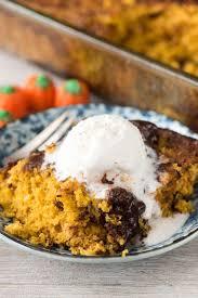 Pumpkin And Cake Mix Dessert by Pumpkin Fudge Pudding Cake Crazy For Crust