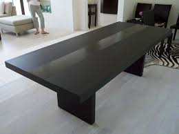 Dinning Room Modern Dining Table With A Black Minimalist Design And