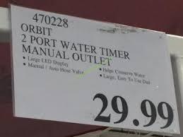 Orbit Hose Faucet Timer Manual by Orbit 2 Port Water Timer Manual Outlet U2013 Costcochaser