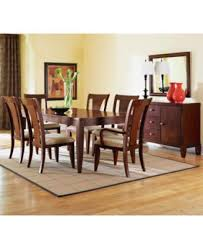 Macys Bradford Dining Room Table by Macy U0027s Dining Room Furniture Metropolitan Contemporary 7 Piece