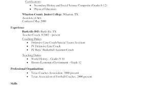 Coaching Resume Template Te Soccer Coach Job Description Tes Cv
