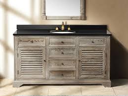Distressed Bathroom Vanity Gray by 5925
