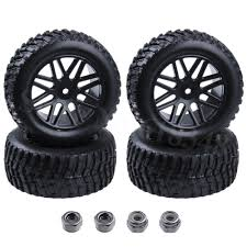 100 Hub Truck 4Pcs 22 RC Short Course Tires Wheel Rims 12mm Hex For 1