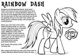 My Little Pony Hard Coloring Page Printable Download Pages Rainbow Dash Color