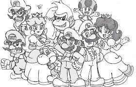 Brilliant Mario And Luigi Coloring Pages Accordingly Unusual Article