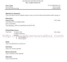 Sample Resume With Little Work Experience Template