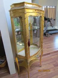 French Gold Leaf Curio Cabinet Late 1800 s For Sale